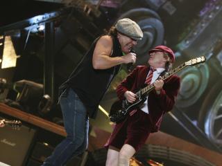 обои Ac-dc музыканты на сцене фото