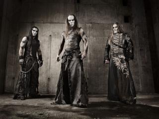 обои Behemoth - рок група играют black metal фото