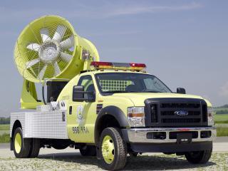 обои Ford f-550 пожарная удалет дым фото