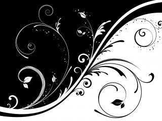обои Черное и белое в узоре фото