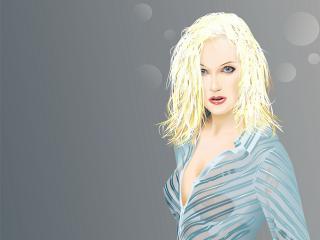обои Блондинка в прозрачной блузке фото