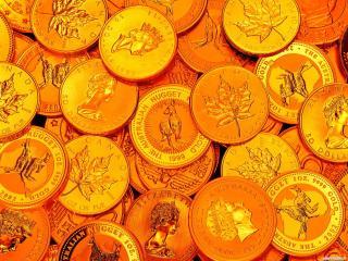 обои Фон с монетами фото
