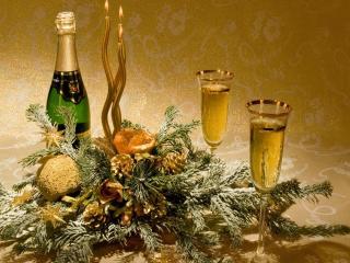 обои Шампанское и бокалы фото