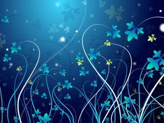 обои Голубые цветы фото