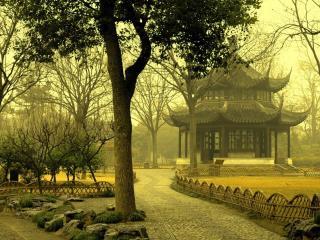 обои Китайский сад фото