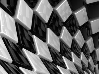 обои Глянцевые черно-белые кубы фото