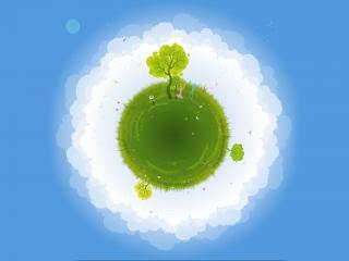 обои Жизнь на зеленой планете фото