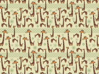 обои Текстура из веселых жирафиков фото