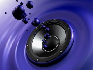 обои Синий динамик,   синие бульбашки фото