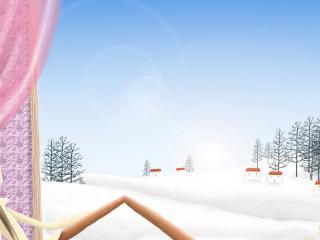обои Созерцание зимы из окна фото