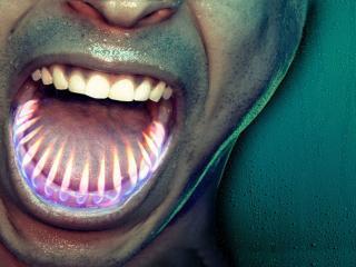обои Огонь из зубов фото