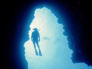 обои Аквалангист,  человек-под-водой фото