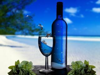 обои Море в бутылке фото