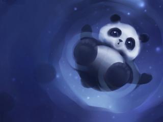 обои Панда няшка,   рисунок фото