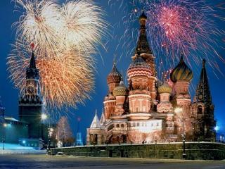 обои Салют в Москве фото