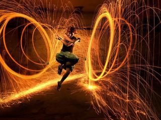 обои Танец огня фото