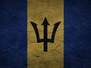обои Barbados,   знак и флаг фото
