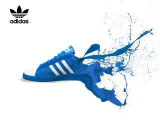 обои Синие кросовки Адидас фото
