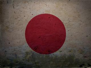 обои Красный круг на стене как японский флаг фото