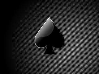 обои Туз на светло черном фоне фото