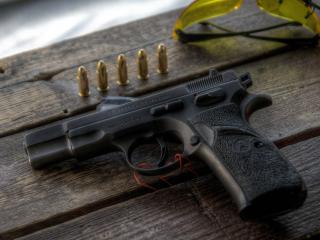 обои Пистолет и пули фото