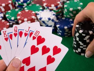обои Игра покер,  карты и фишки фото