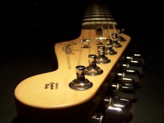 обои Гитара на земле фото