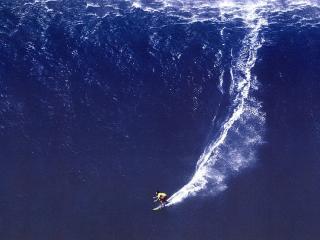 обои Огромная волна с парнем на доске фото