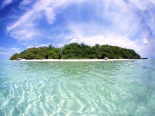 обои Остров вид с моря фото
