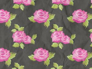 обои Текстура цветы розы на черной ткани фото