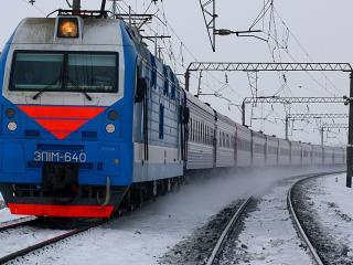 обои Электровоз,   локомотив  эп1м зима фото