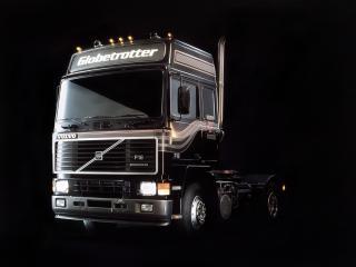 обои Грузовик Volvo f16,    на темном фоне фото