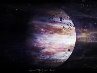 обои Астероиды вокруг Юпитера фото