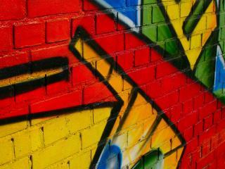 обои Яркое граффити на стене фото