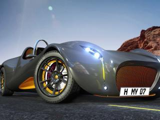 обои 3D автомобиль на старте фото