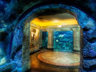 обои Комната аквариум фото