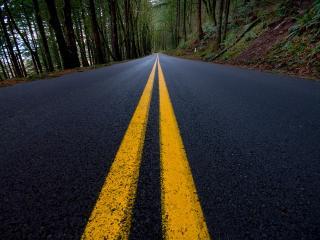 обои Дорога с полосой фото