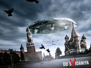обои Нло над москвой фото