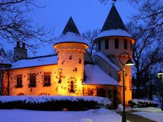 обои для рабочего стола: Замок в снегу