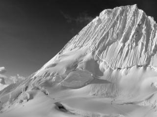 обои Снежная скала фото