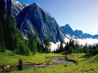 обои Холодное лето в горах фото
