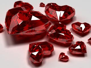 обои Рубиновые сердечки фото
