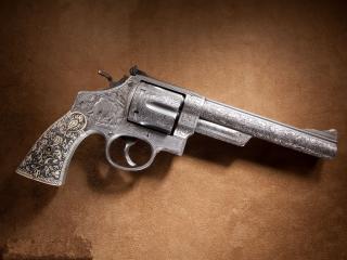 обои Пистолет Smith wesson 44 калибра фото