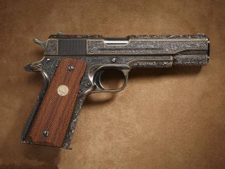 обои Пистолет с резьбой фото
