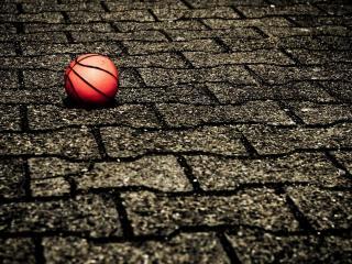 обои Красный баскетбольный мяч фото