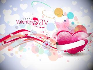 обои День Св. Валентина - Яркое поздравление фото