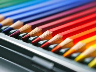 обои Сложенные аккуратно цветные карандаши фото