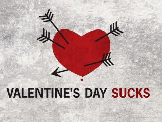 обои День Св. Валентина - Сердце со стрелами и надпись фото