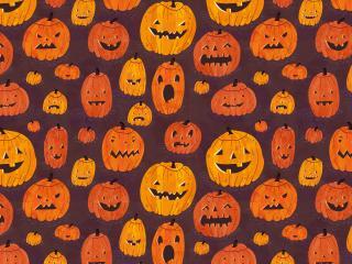 обои Тыквы для праздника хэллоуин фото