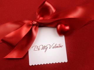 обои День Св. Валентина - Записка с красной лентой фото